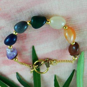 Gem Stone Chakra Bracelets